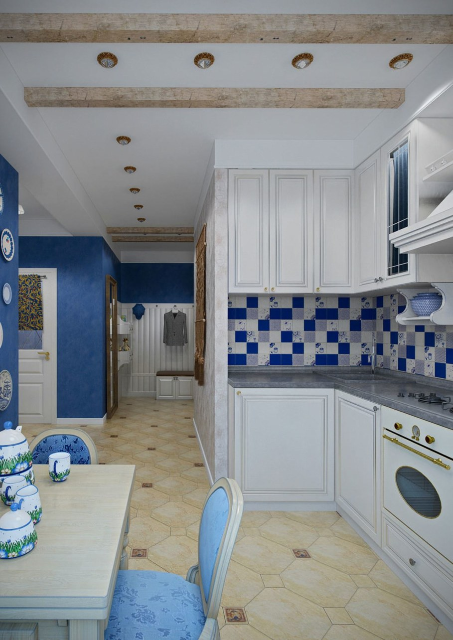 Apartment interior in the Provence style - Kitchen design ideas