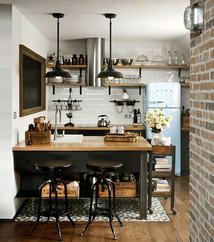 Attic apartment by dimitar karanikolov for Attic kitchen ideas