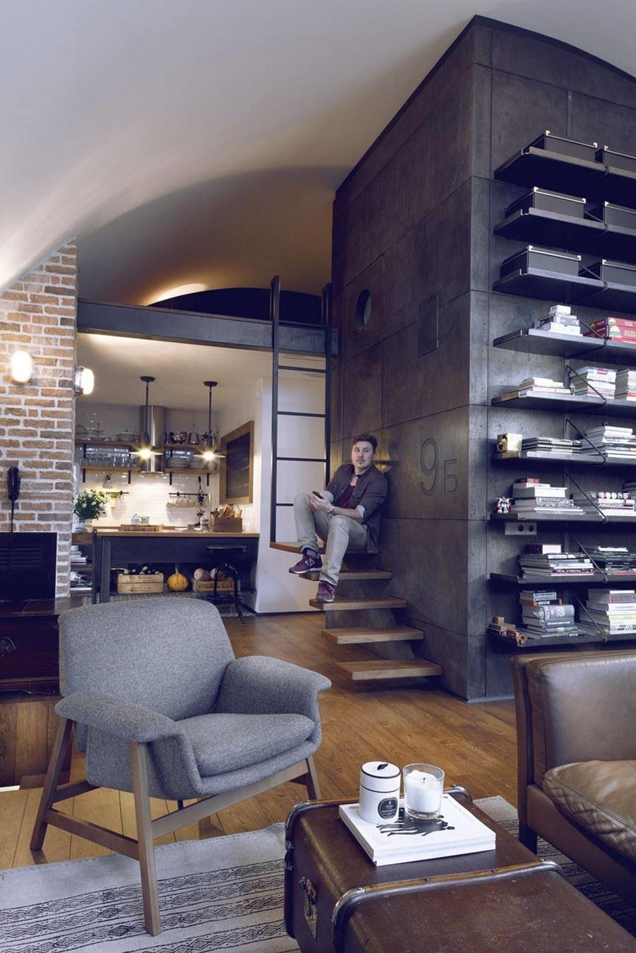 Attic Apartment - Living room