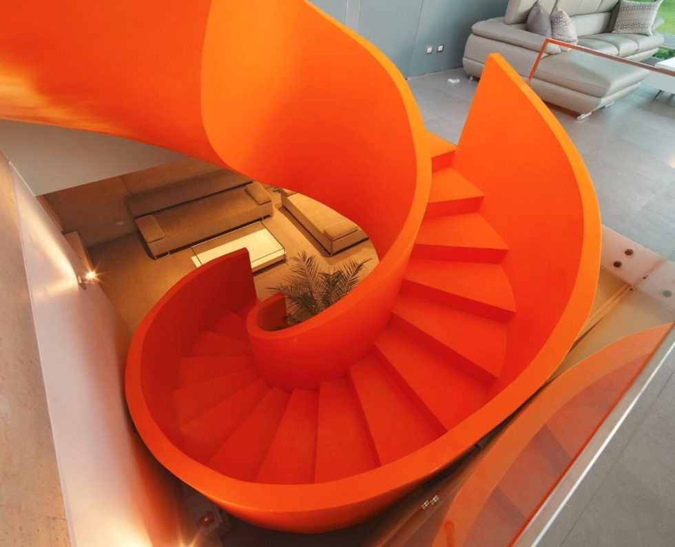 Attractive Open-Terraced House with Orange Staircase 2