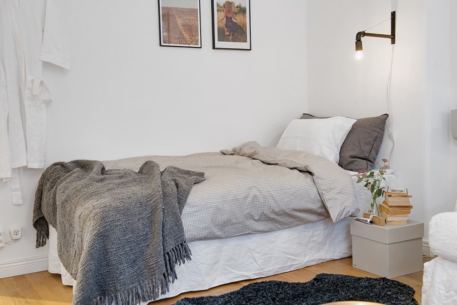 Bedroom design in Scandinavian style - Mostly natural materials