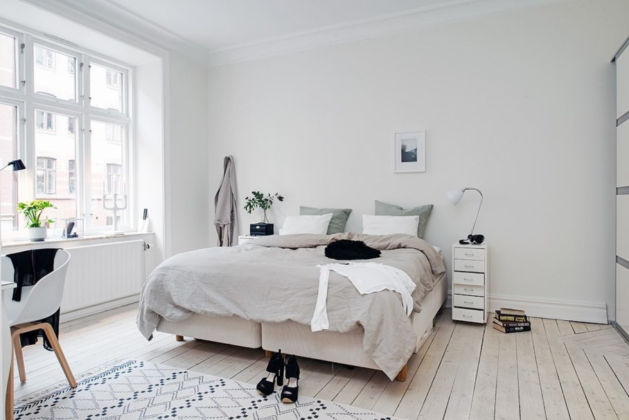 Bedroom design in scandinavian style Industrial scandinavian bedroom