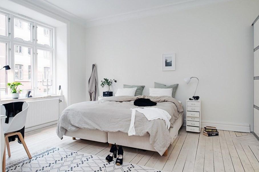 Bedroom design in Scandinavian style - The Scandinavians love wood