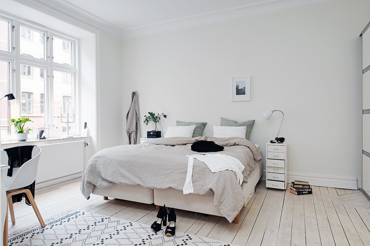 Bedroom design in scandinavian style for Schlafzimmer vintage