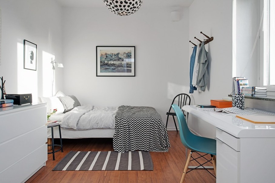 Bedroom design in Scandinavian style - minimalism and brevity