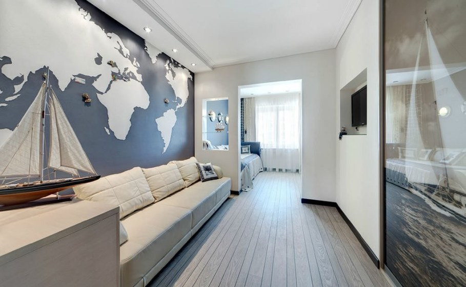 Bedroom for the boys in nautical style