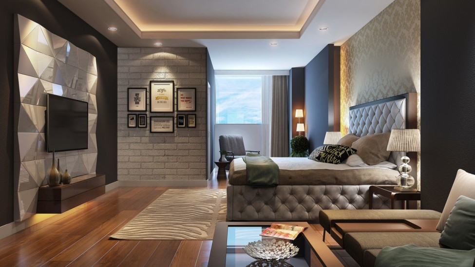 Bedroom in the modern style design ideas for Contemporary design style