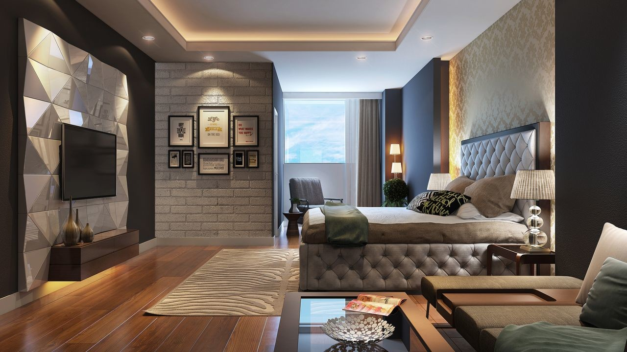 Modern style interior modern house for New style bedroom design