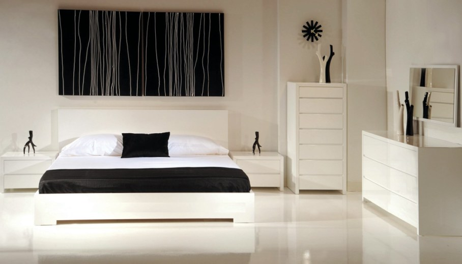 Bedroom interior in the modern style - Elegant decorations and minimalism
