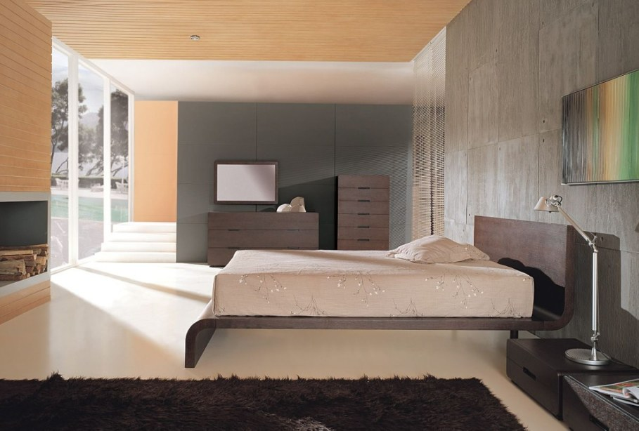 Bedroom interior in the modern style - How to avoid conventions