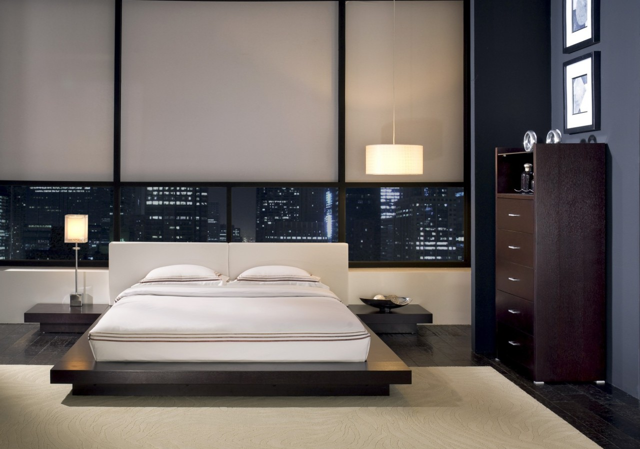 Features of the bedroom interior in the modern style for New style bed design