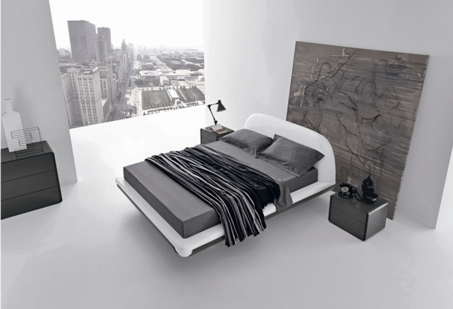 Bedroom interior in the modern style - minimalism