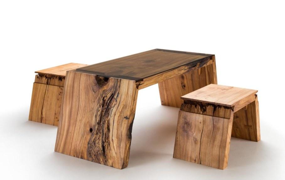 Broken Wood Furniture by Jalmari Laihinen - Table set
