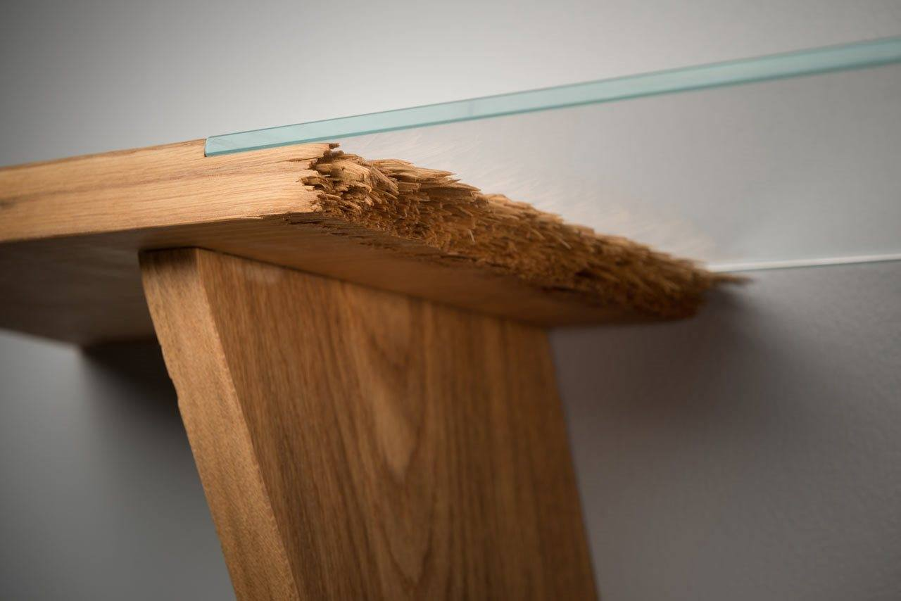 U201cBrokenu201d: Spectacular Furniture, Made Of Cracked Wood Amazing Design