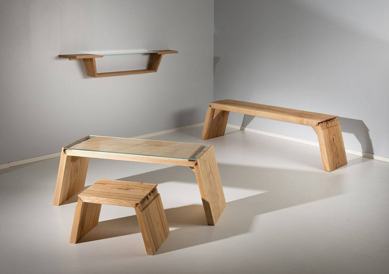 """Broken"": Spectacular Furniture, Made Of Cracked Wood"