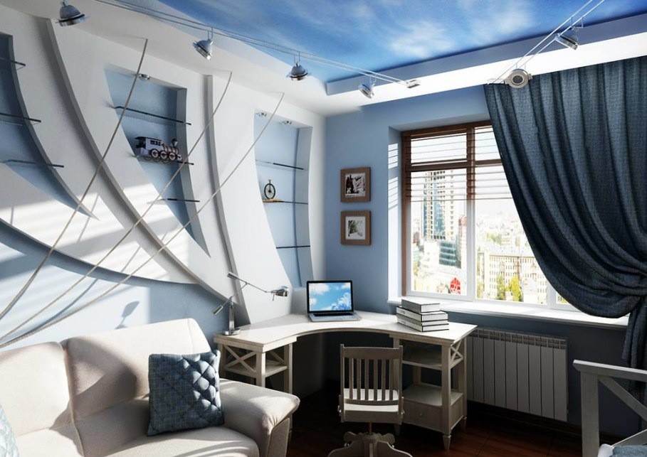 Decorating the room in a marine style