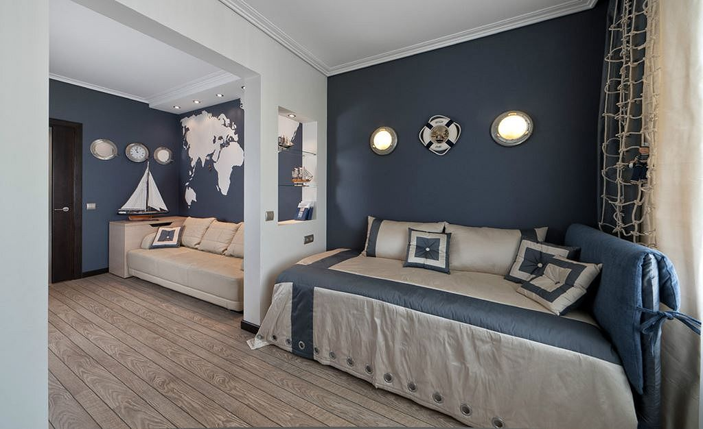 Design Of A Room In Marine Style For Boys, Marine Style Furniture