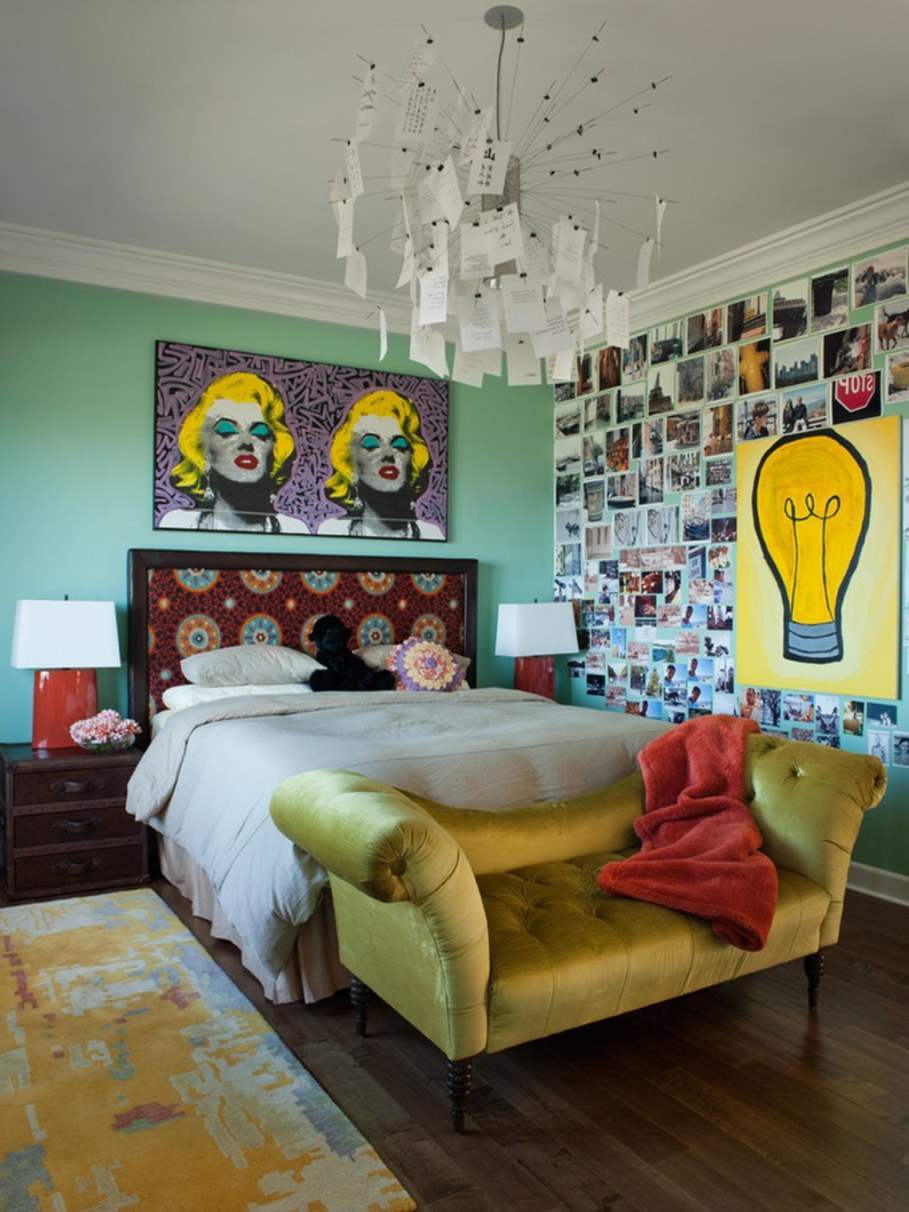 Eclectic Bedroom In A Retro Style