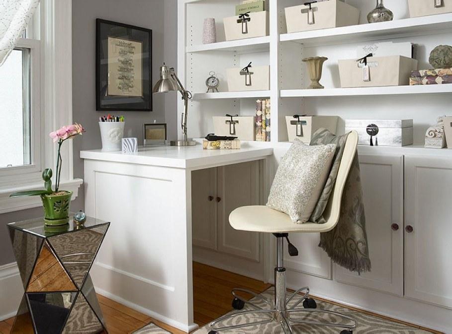 Elegant home office Scandinavian style