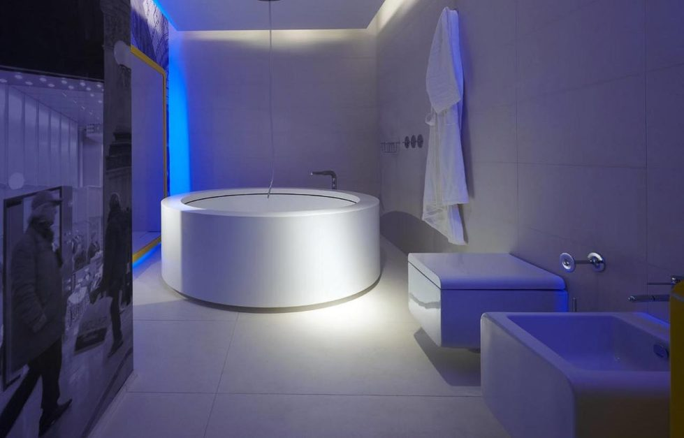 Bathroom lighting ideas ceiling - High Tech Style Interior Design Ideas