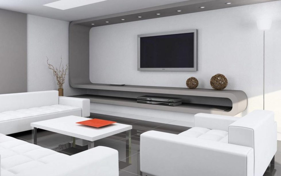 modern design for living room. High Tech Style Kitchen Living room design ideas  interior