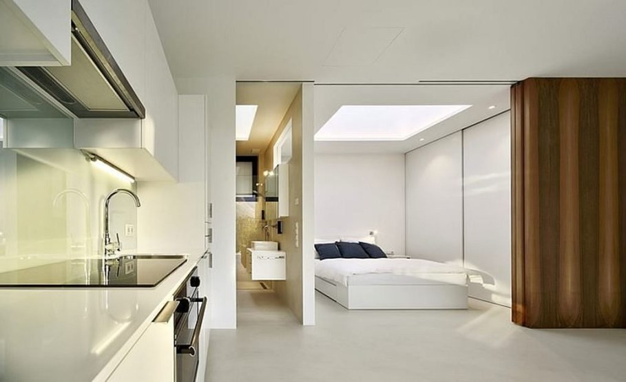 Invisible Mirror Houses - kitchen and bedroom