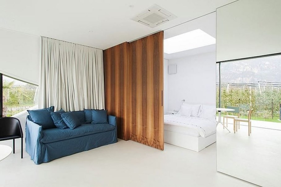 Invisible Mirror Houses - living room and bedroom