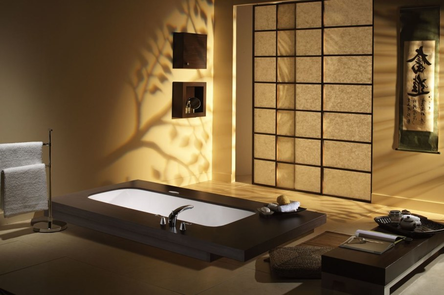 Ethnic style interior design ideas for Bathroom designs japanese style