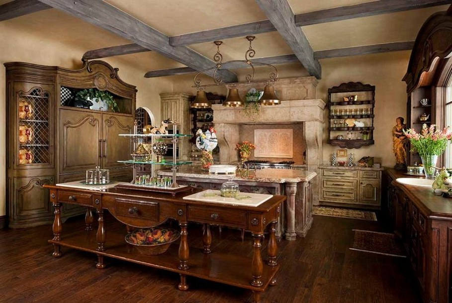 Kitchen decor in the country style