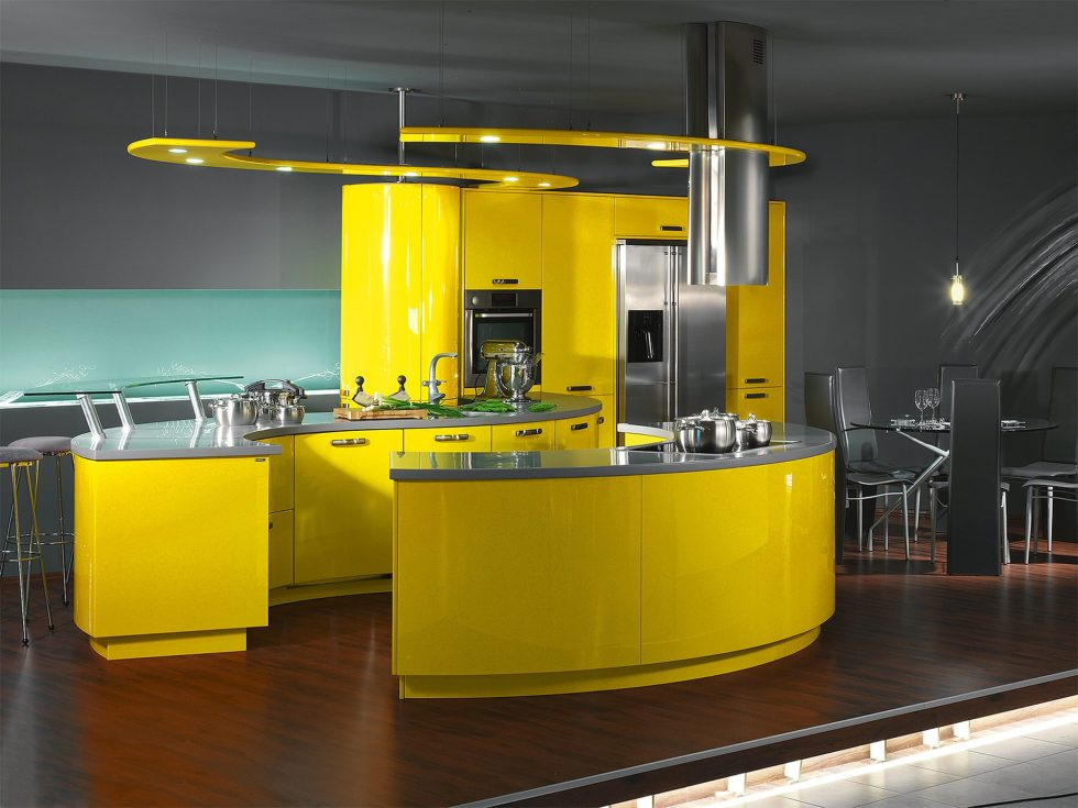 tech furniture. Kitchen In The High-tech Style - Light Tech Furniture E