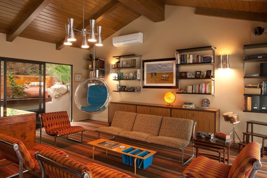 Living room in a retro style 3