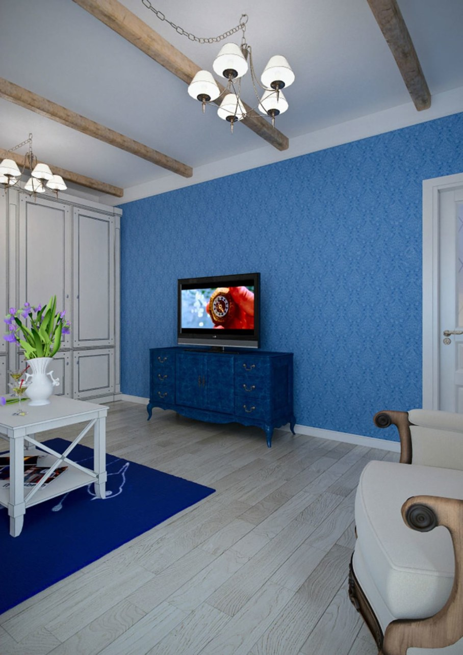 Living room interior in the Provence style - Design ideas