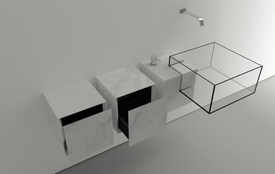 Minimalism-Styled Bathroom Wash Basin by Victor Vasilev 5