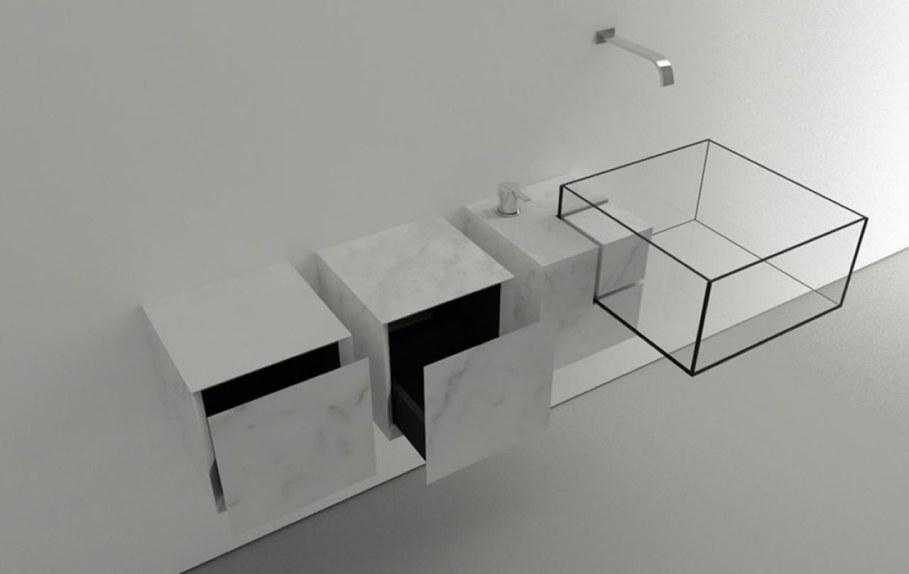 Minimalism-Styled Bathroom Wash Basin by Victor Vasilev 5