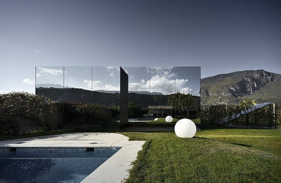 Mirror Houses - The houses are situated at the suburb of small Italian town Bolzano