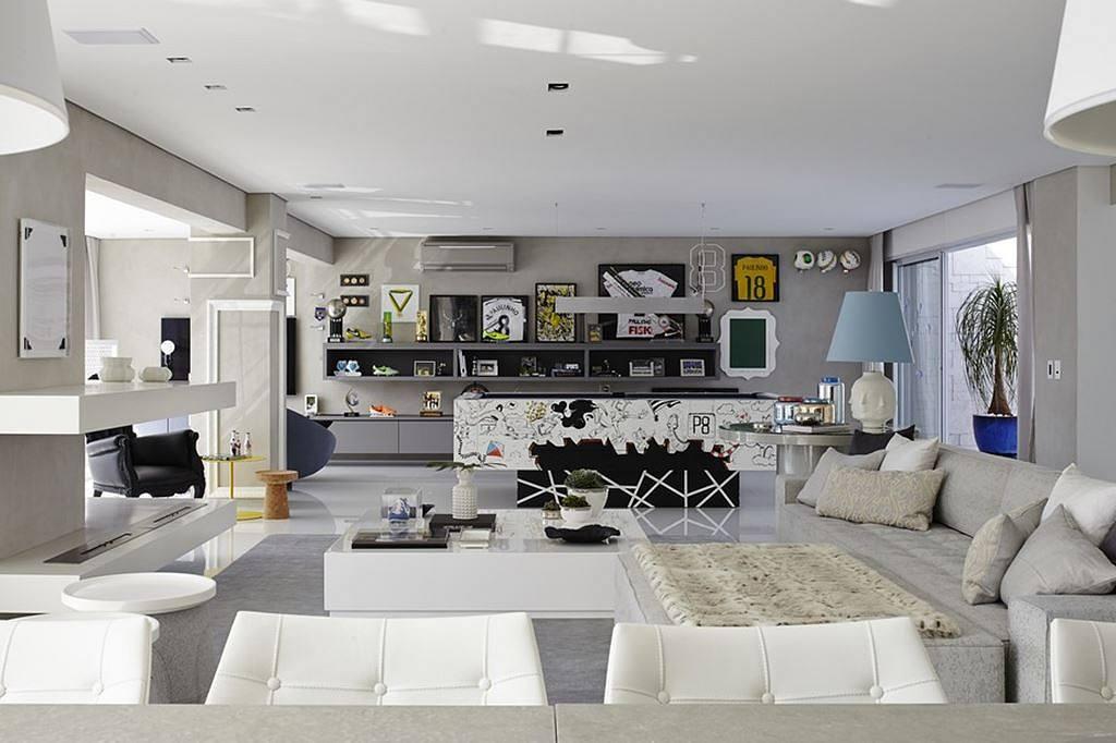 Interior design a concrete apartment for Apartments in sao paulo brazil