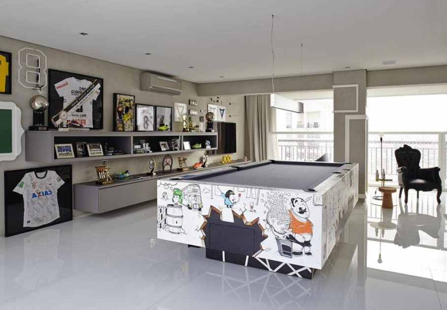 Modern Apartment in Sao Paulo - billiard table