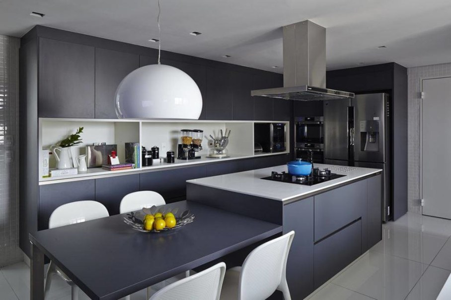 Modern Apartment in Sao Paulo - kitchen and dining place