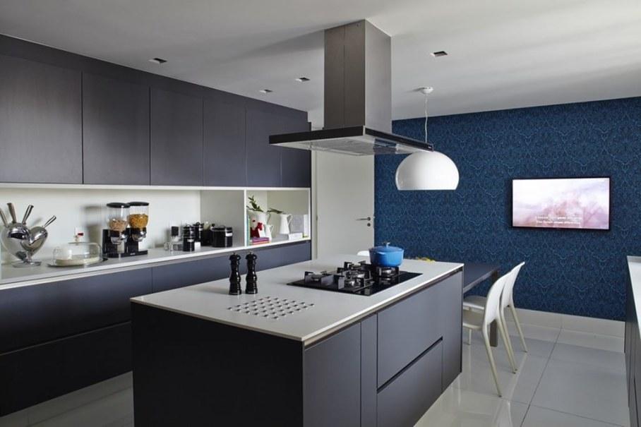 Modern Apartment in Sao Paulo - kitchen island