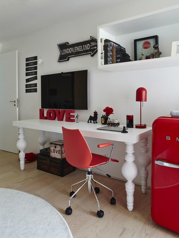 Modern Apartment in Sao Paulo - workplace design