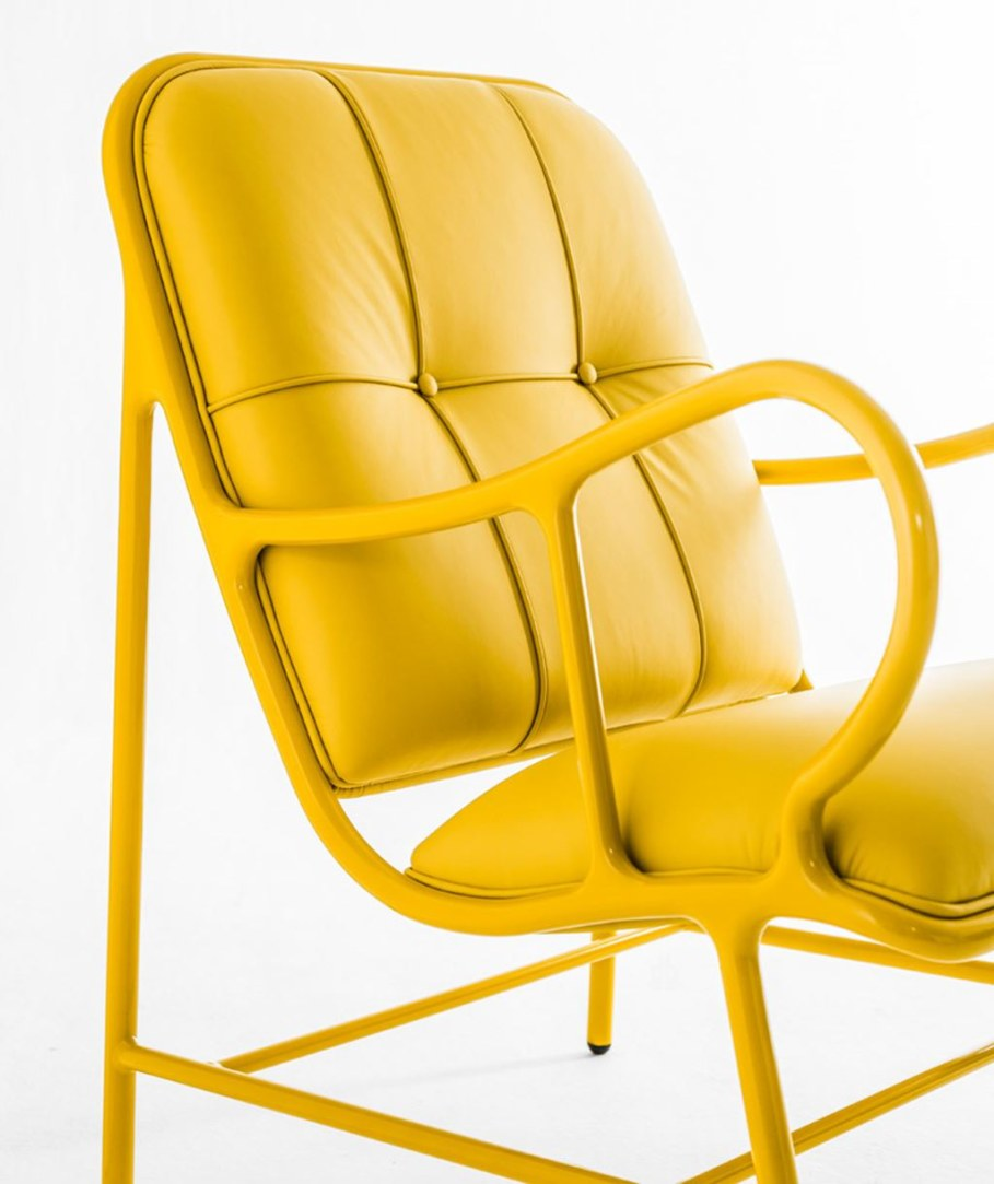 New Outdoor Furniture Collection by Jaime Hayon - yellow leather upholstery 2