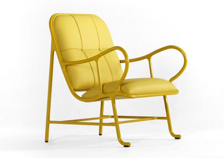 New Outdoor Furniture Collection by Jaime Hayon - yellow leather upholstery