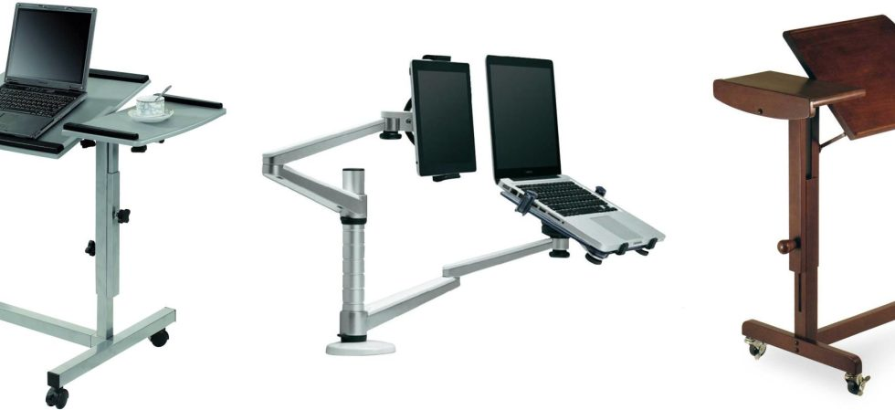 Organize a comfy working place with a swivel laptop stand