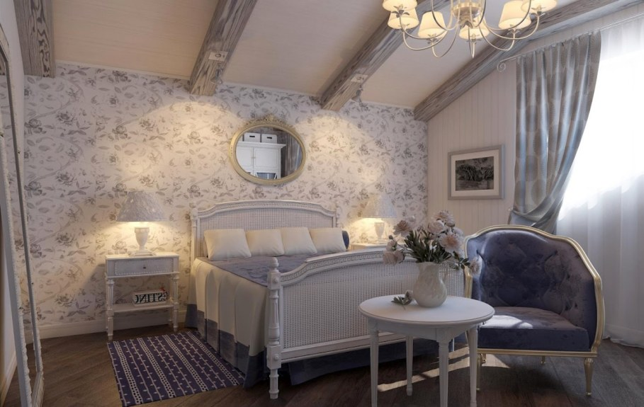 Provence style bedroom - As table lamps choose models with evident rustic design