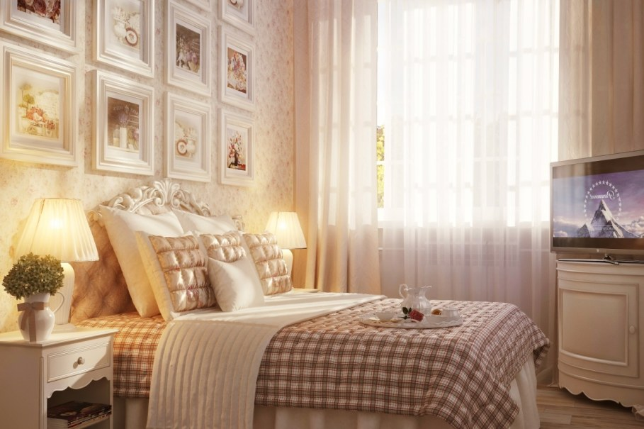 Provence style bedroom - Design in rustic style