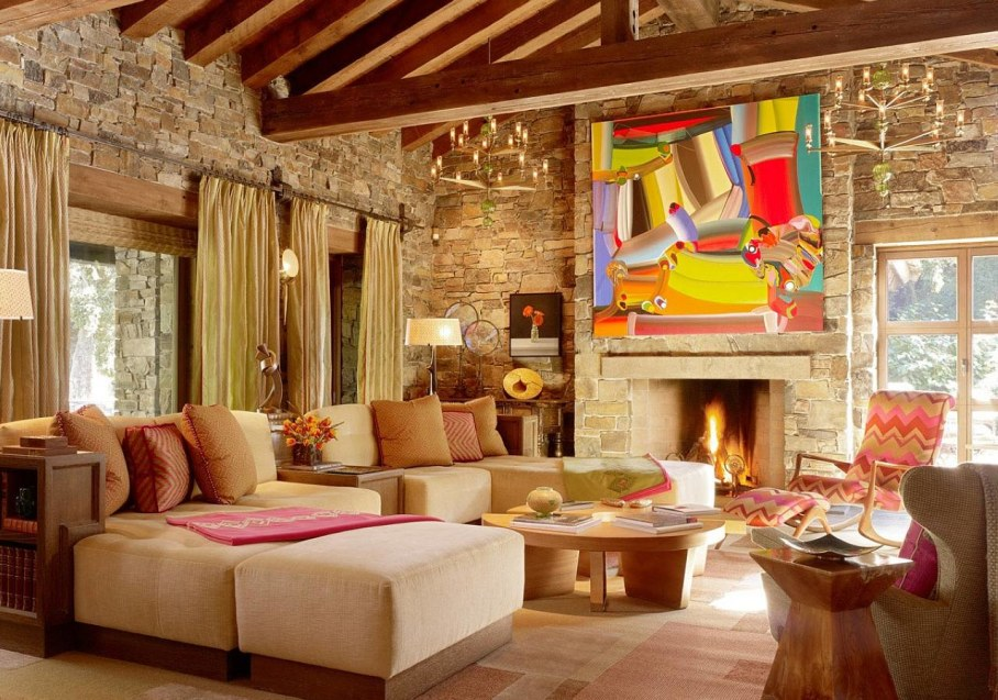 Rustic Interior Design in Eclectic Style