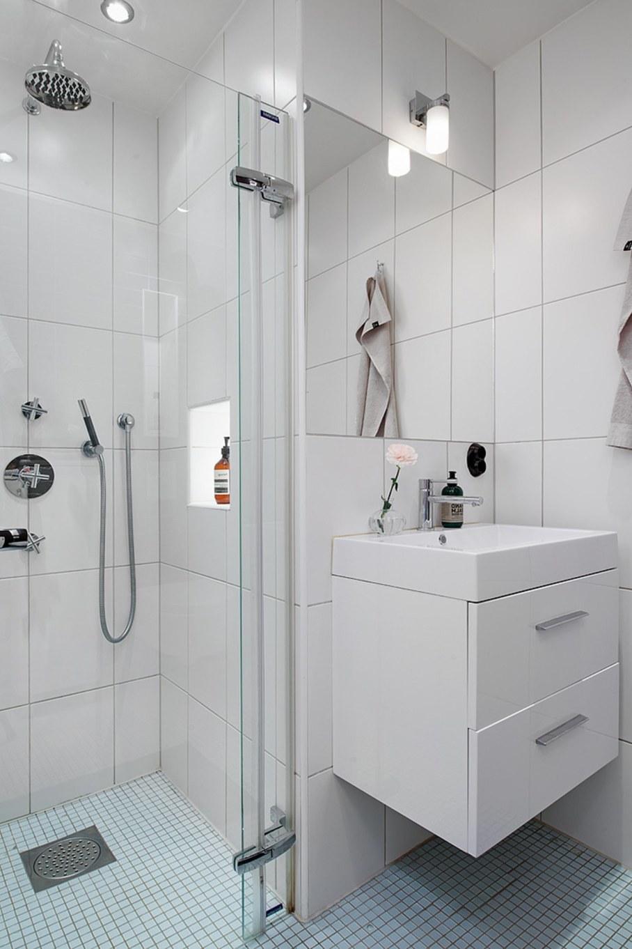 Scandinavian style interior design - bathroom