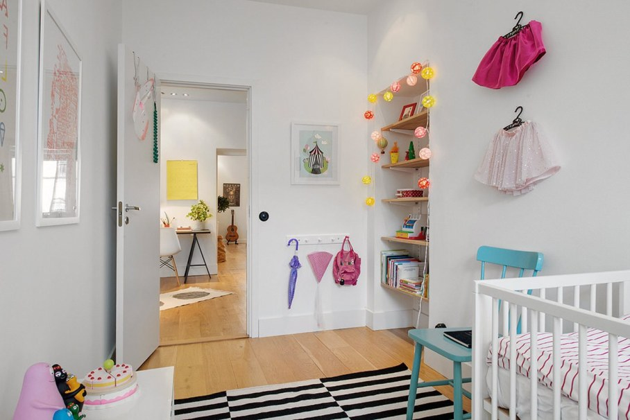 Scandinavian style interior design - kids room