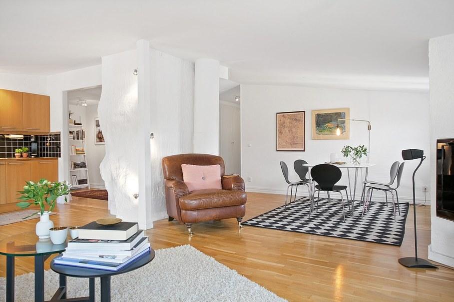 Scandinavian style interior design - living room