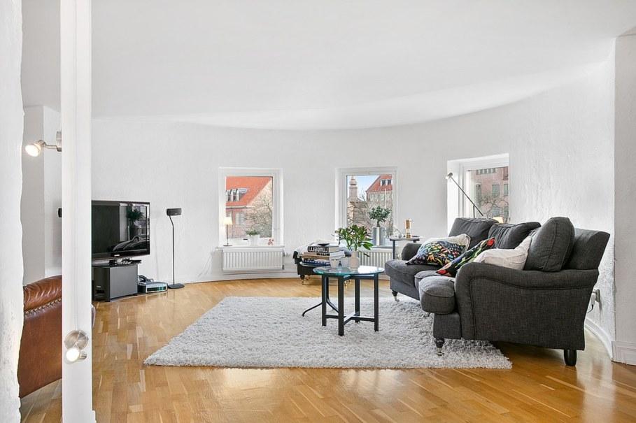 Scandinavian style interior design - living room - good bright lighting